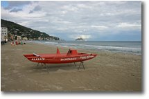 Fotografie Altro - Panorami - The sandy beach of Alassio, in october