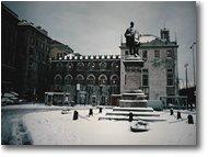 Fotografie Genova - Paesi - Palazzo San Giorgio con neve (1985)