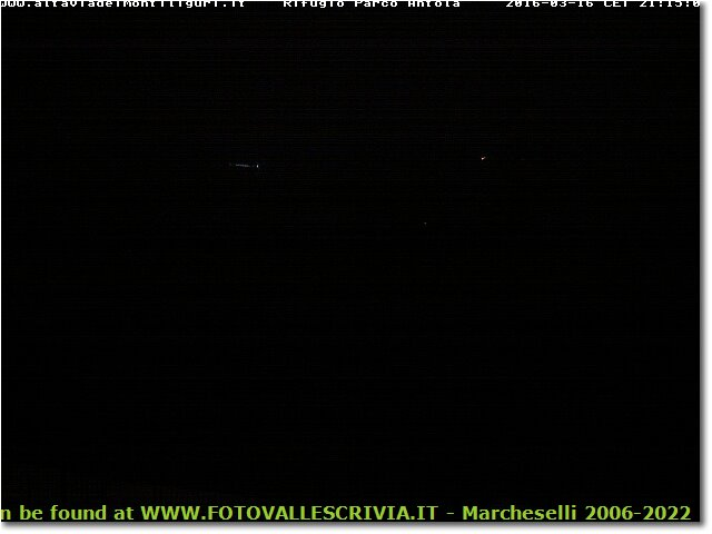 Foto Genova - Panorami - Webcam Webcam from rifugio on M. Antola over Brugneto lake