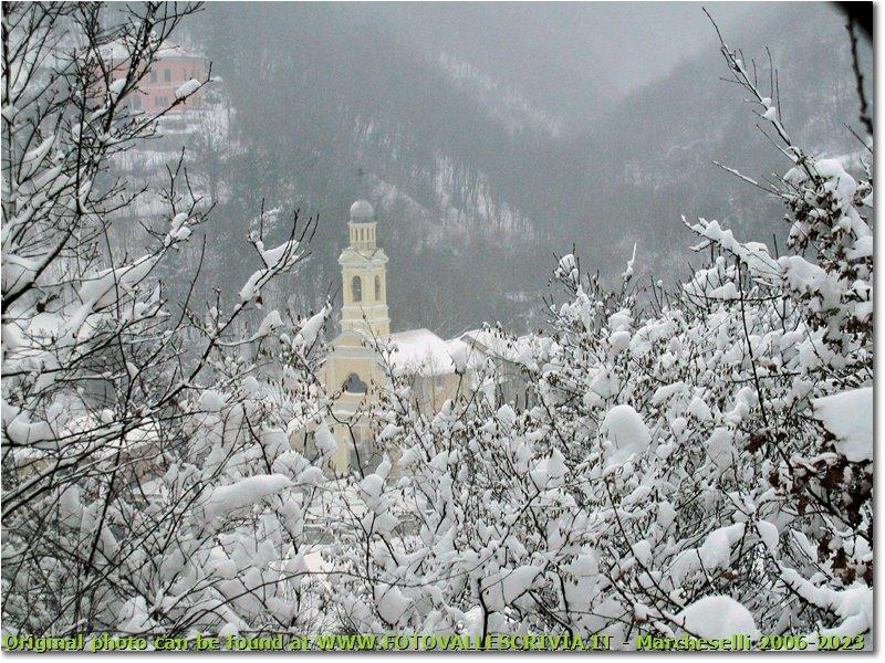 Fotografie Savignone - Boschi - San bartolomeo church under the snow
