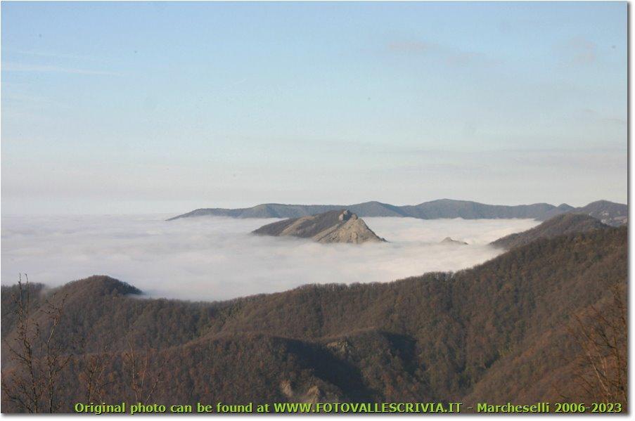 Fotografie Savignone - Panorami - An island in the fog: M. Reopasso