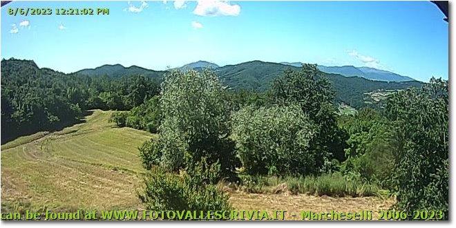 Fotografie Savignone - Panorami - Webcam Live Savignone - Montemaggio verso Forti di Genova,  Santuario Madonna della Guardia, Mar Ligure. Aggiornata ogni 10 minuti